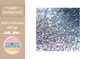 Midnight Sky Gradient Chunky Glitter Graphic Backgrounds By AM Digital Designs