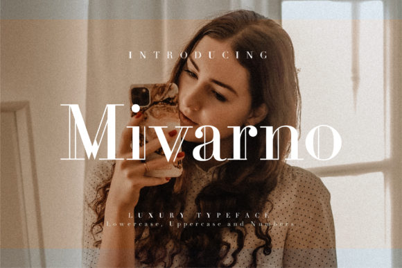 Print on Demand: Mivarno Serif Font By geengraphy