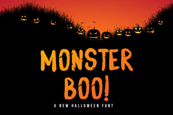 Print on Demand: Monster Boo Display Font By hugefonts