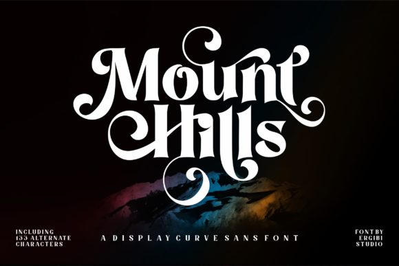 Print on Demand: Mount Hills Display Font By ergibi studio