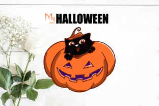 My Halloween Cute Cat Graphic Crafts By Svg World