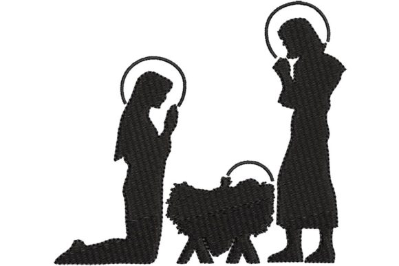 Nativity Silhouette Christmas Embroidery Design By BabyNucci Embroidery Designs