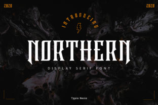 Print on Demand: Northern Blackletter Font By Typia Nesia