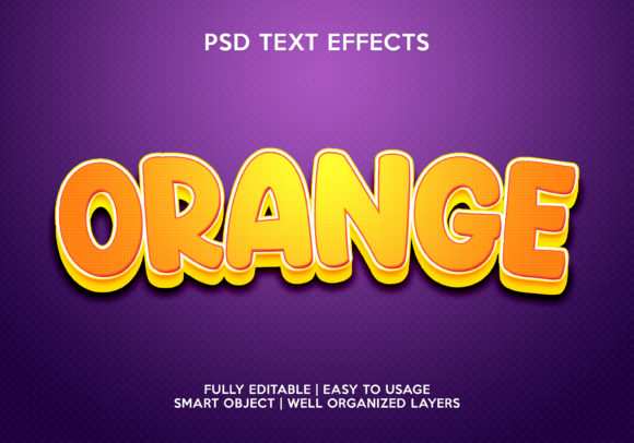 Orange Text Effect Graphic Layer Styles By gilangkenter