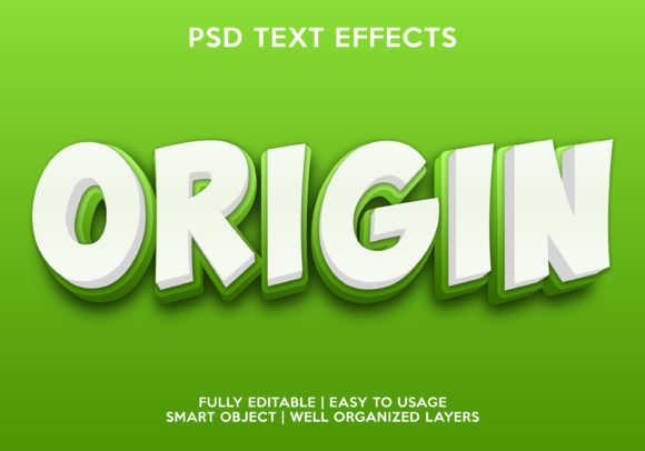 Orgin Text Effect Graphic Layer Styles By gilangkenter