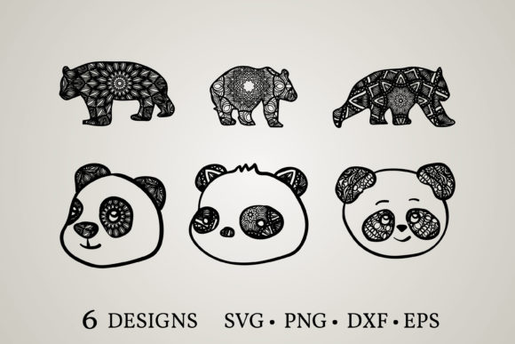 Panda Mandala Svg Graphic Print Templates By Euphoria Design