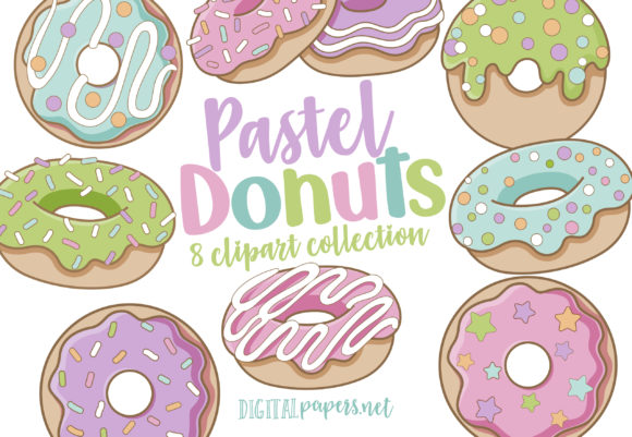Print on Demand: Pastel Donuts Graphic Illustrations By DigitalPapers
