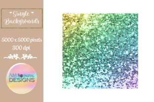 Pastel Rainbow Ombre Chunky Glitter Graphic Backgrounds By AM Digital Designs