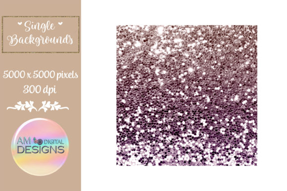 Pink and Orange Gradient Chunky Glitter Graphic Backgrounds By AM Digital Designs