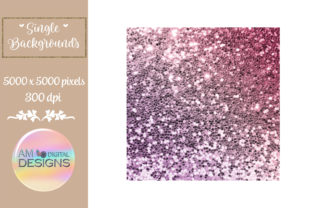Pink and Purple Gradient Chunky Glitter Graphic Backgrounds By AM Digital Designs