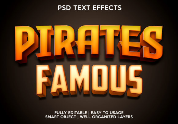 Pirates Famous Text Effect Graphic Layer Styles By gilangkenter