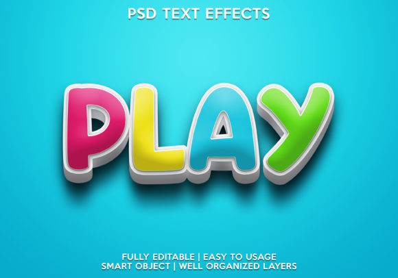 Play Text Effect Graphic