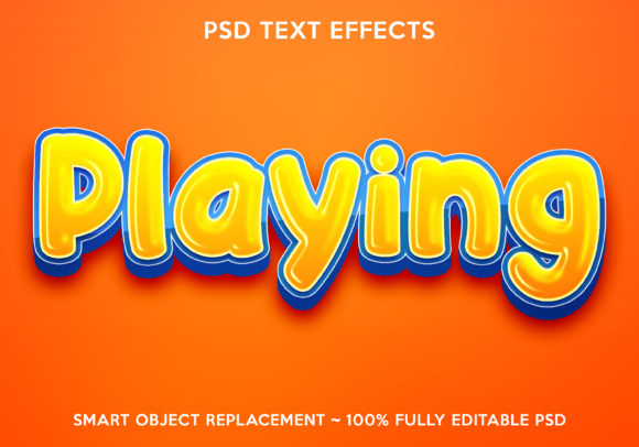 Playing Text Effect Graphic Layer Styles By gilangkenter