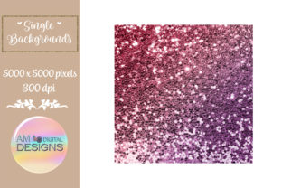 Plum and Maroon Gradient Chunky Glitter Graphic Backgrounds By AM Digital Designs