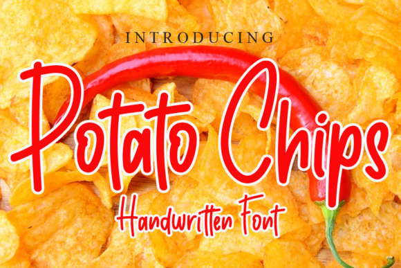 Print on Demand: Potato Chips Script & Handwritten Font By gunawanletter