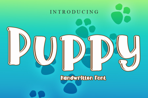 Print on Demand: Puppy Display Font By gunawanletter