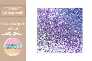 Purple Ombre Gradient Chunky Glitter Graphic Backgrounds By AM Digital Designs