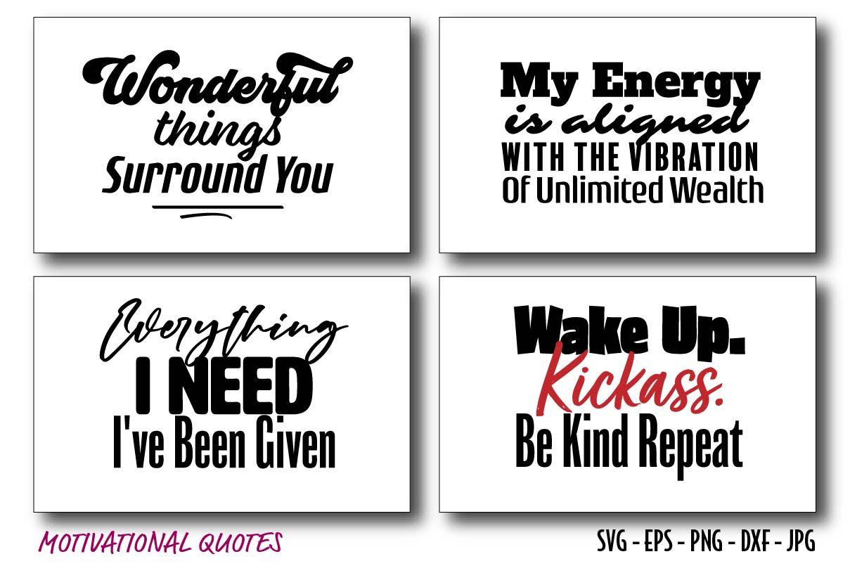 Quotes of Motivational & Inspirational SVG File