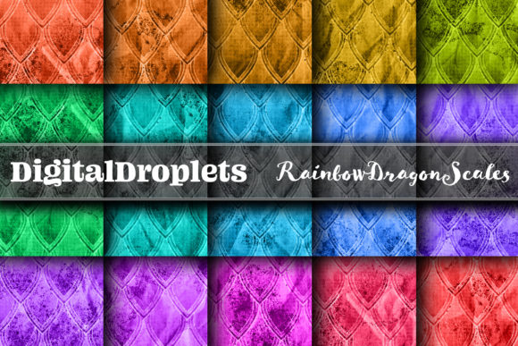 Rainbow Dragon Scales | Seamless Graphic Backgrounds By digitaldroplets