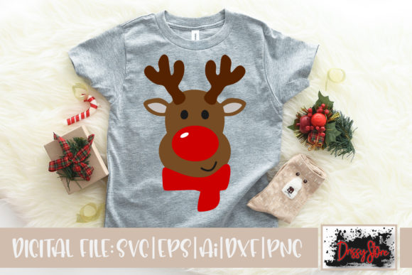 Rednosed Reindeer Graphic Illustrations By DrissyStore