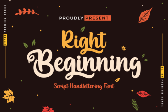 Print on Demand: Right Beginning Script & Handwritten Font By twinletter
