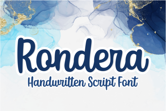 Print on Demand: Rondera Script & Handwritten Font By Situjuh