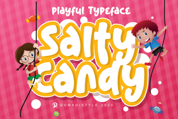Print on Demand: Salty Candy Display Font By DUMADI