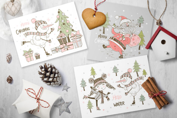 Santa Claus and the Merry Snowman Graphic Item