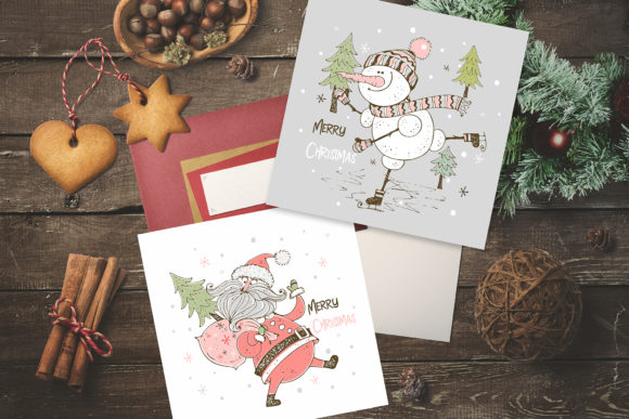 Santa Claus and the Merry Snowman Graphic Design