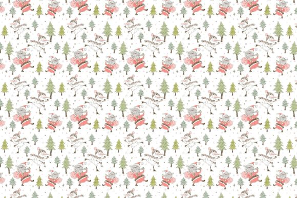 Santa Claus and the Merry Snowman Graphic Downloadable Digital File