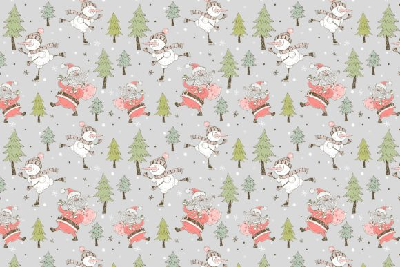 Santa Claus and the Merry Snowman Graphic Popular Design