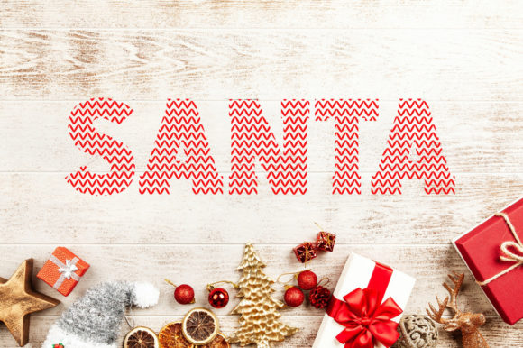 Print on Demand: Santa Ugly Sweater Decorative Font By Vladimir Carrer