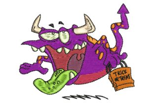 Scary Monster Halloween Embroidery Design By BabyNucci Embroidery Designs