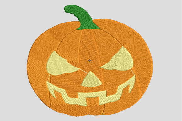 Scary Pumpkin Embroidery