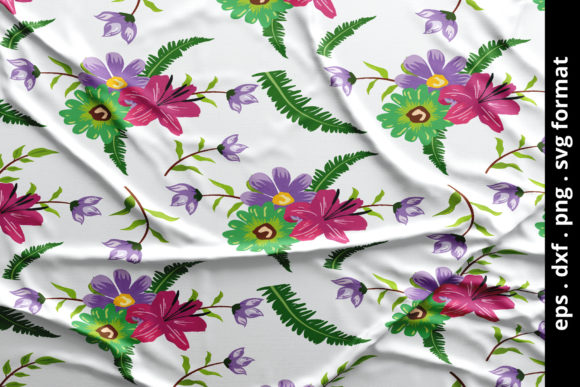 Print on Demand: Seamless Tropical Floral Pattern Vector Graphic Patterns By anomali.bisu