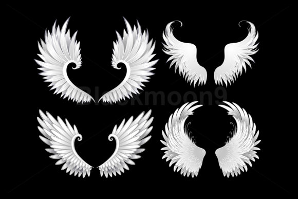 Set of White Wings Grafik Illustrationen von Blackmoon9