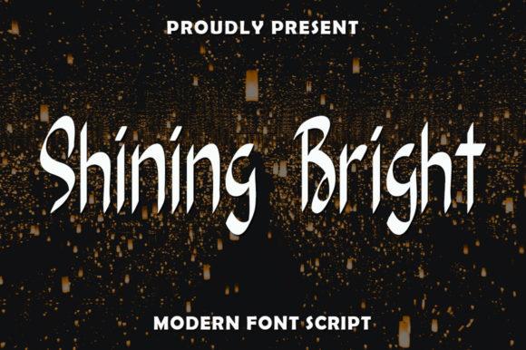 Print on Demand: Shining Bright Script & Handwritten Font By rangkaiaksara