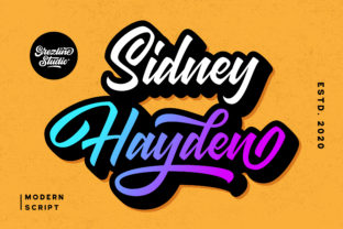 Print on Demand: Sidney Hayden Script & Handwritten Font By Grezline Studio