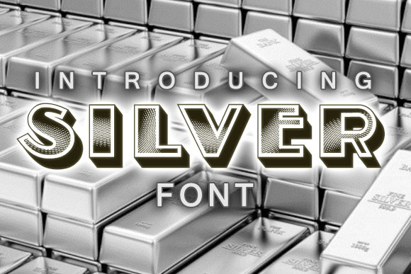 Print on Demand: Silver Decorative Font By vladimirnikolic