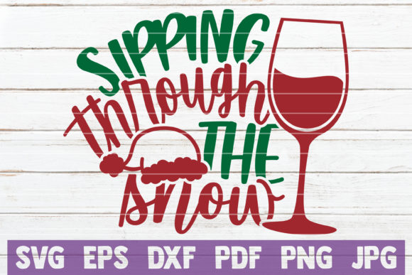 Sipping Through the Snow Graphic Crafts By MintyMarshmallows