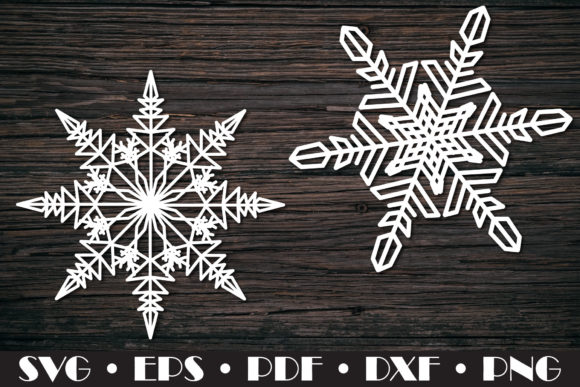 Snowflakes SVG 10 Cut Files Graphic Preview