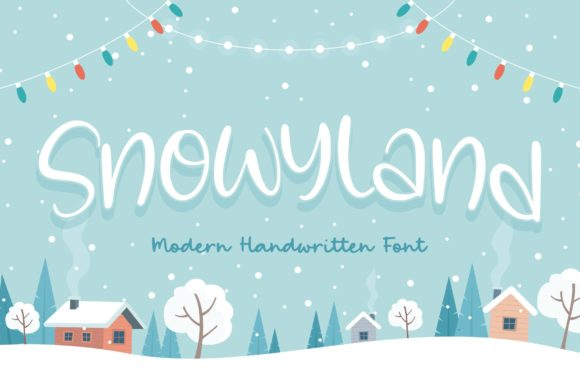 Print on Demand: Snowyland Script & Handwritten Font By Balpirick