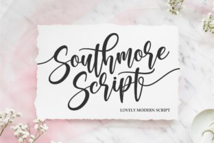 Print on Demand: Southmore Script & Handwritten Font By ergibi studio