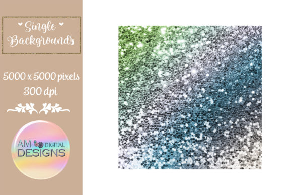 Spring Garden Gradient Chunky Glitter Graphic Backgrounds By AM Digital Designs
