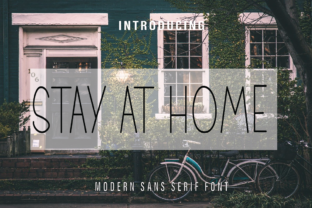 Print on Demand: Stay at Home Sans Serif Font By Farz Studio