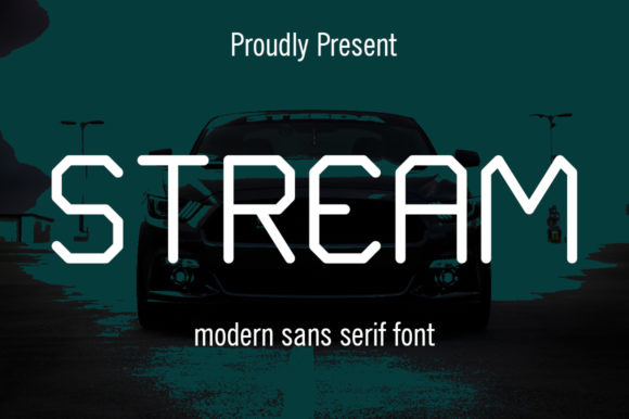 Print on Demand: Stream Sans Serif Font By Hardiboy Design