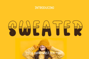 Print on Demand: Sweater Display Font By Pila Studio