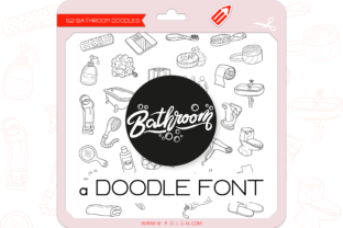 Print on Demand: The Bathroom Dingbats Font By WADLEN