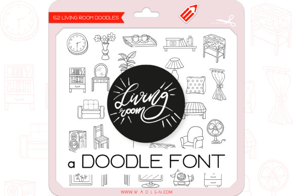 Print on Demand: The Living Room Dingbats Font By WADLEN