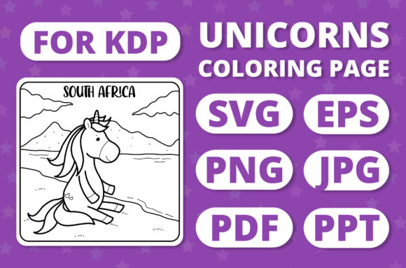 Print on Demand: Traveling Unicorns - Coloring Page #16 Graphic Coloring Pages & Books Kids By RefreshUp